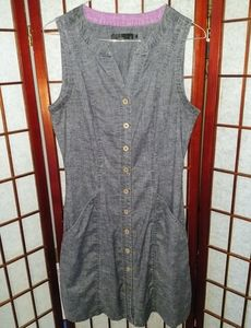 PrAna Denim Button Down Dress